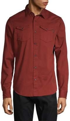 Scotch & Soda Long-Sleeve Button-Front Shirt