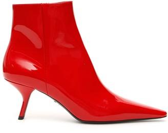 Prada Stiletto Ankle Boots
