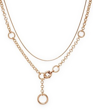 Aqua Two-Layer Toggle Chain Necklace, 19 - 100% Exclusive