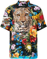 Dolce & Gabbana leopard and floral print shirt