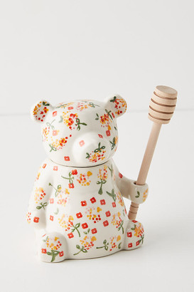 Anthropologie Floral Bear Honey Pot By in Assorted