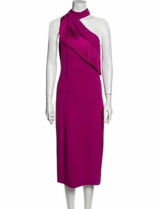 Cushnie One-Shoulder Long Dress Purple
