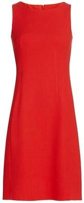 Akris Double-Feace Wool Crepe Sheath Dress