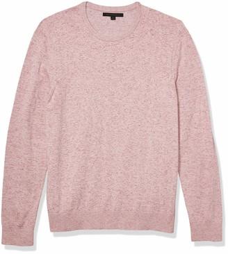 John Varvatos Men's Huntington Long Sleeve Reverse DYE Cotton Crew Neck Sweater