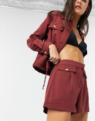 Vero Moda safari shorts in brown