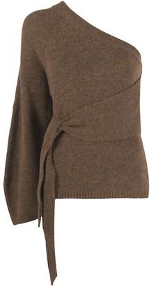 Nanushka One-Sleeve Knitted Top