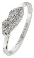 Delfina Delettrez 18kt White Gold Kiss Me Ring with White Diamonds