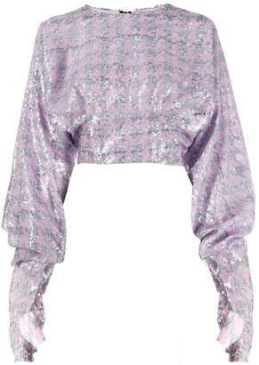 Natasha Zinko Sequin-Embellished Zipped Top