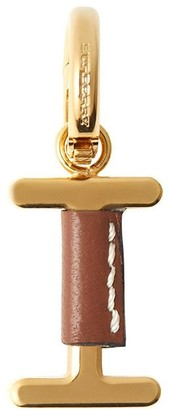 Burberry leather-wrapped I charm