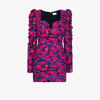 Magda Butrym Floral Print Bustier Mini Dress