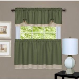 Achim Darcy Window Curtain Tier and Valance Set, 58x36