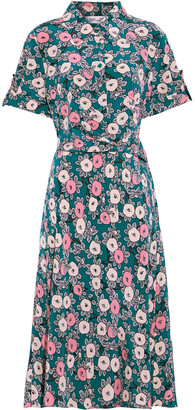 Diane von Furstenberg Deborah Floral-print Silk Crepe De Chine Midi Dress