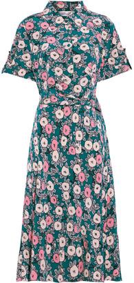Diane von Furstenberg Deborah Wrap-effect Floral-print Silk Crepe De Chine Midi Dress