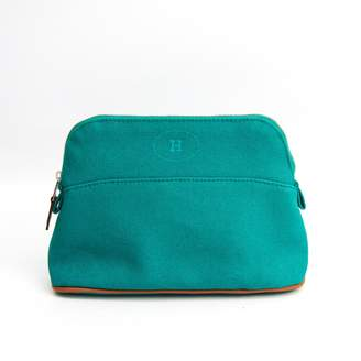 Hermes Bolide Green Cloth Travel bags