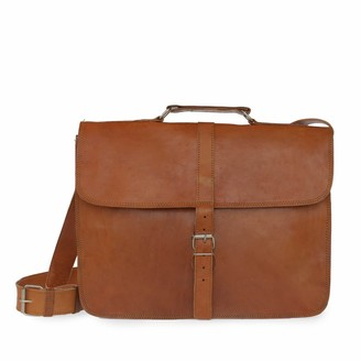 Vida Vida Vida Vintage Classic 1 Buckle Leather Messenger Bag