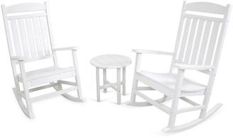 One Kings Lane Ivy Terrace 3-Pc Rocker Seating Set - White