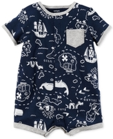 Carter's Map-Print Cotton Romper, Baby Boys (0-24 Months)