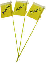 Rejuvenation Set of Three New Old Stock Reflective Danger Signs