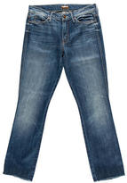 Mother Straight-Leg Mid-Rise Jeans