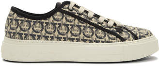 Salvatore Ferragamo Off-White Anson Sneakers