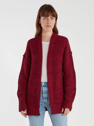 Free People High Hopes Marbled Rib Knit Cardigan Sweater