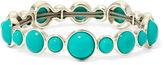 Liz Claiborne Aqua Stone Silver-Tone Stretch Bracelet