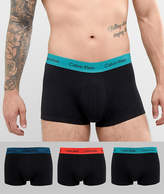 Calvin Klein Low Rise Trunks 3 Pack in Cotton Stretch