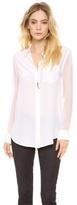 Reese Blouse with Contrast Sleeves
