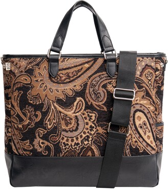 Béis The Mini Everyday Jacquard & Faux Leather Tote