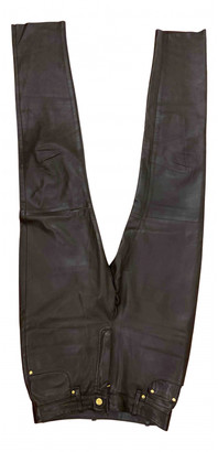 Hermes Brown Leather Trousers