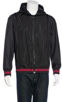 Moncler Gamme Bleu Striped Hooded Jacket