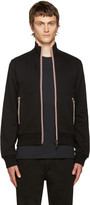Moncler Black Zip-Up Maglia Sweater