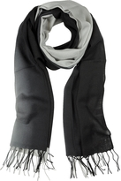 Mila Schon Gradient Black/Gray Wool and Cashmere Stole