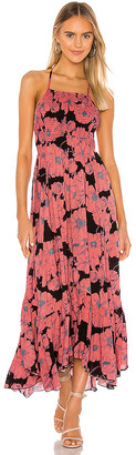 Free People Heatwave Printed Midi Dress