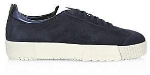 Giorgio Armani Men's Suede Platform Sneakers