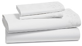 Sky Floral Embroidered Sheet Set, Full - 100% Exclusive