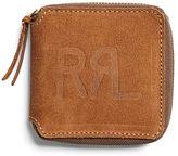 Ralph Lauren RRL Roughout Leather Zip Wallet