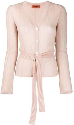 Missoni Micro-Pleated Belted Cardigan