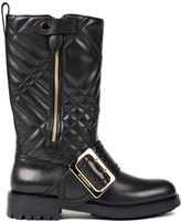 Burberry Quilted Buckled Boots