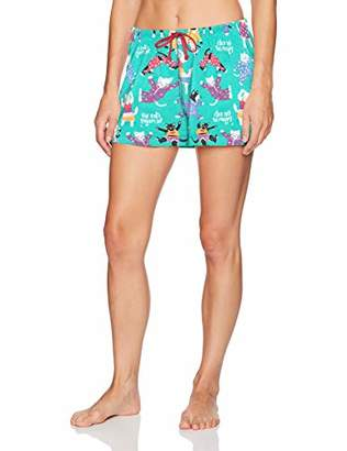Hatley Little Blue House Women's Printed Boxer Shorts Bottoms,X-Small