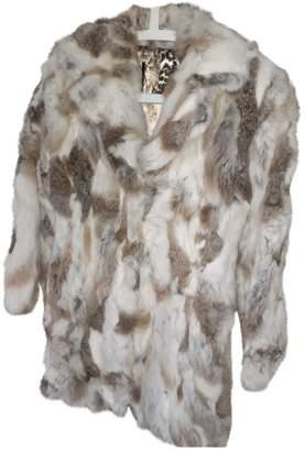 Italia Independent Beige Rabbit Coats