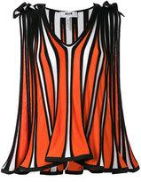 MSGM front pleat tank top - women - Cotton/Viscose - M