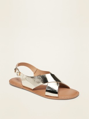 Old Navy Crisscross Faux-Leather Slingback Sandals for Women