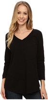 Mod-o-doc Classic Jersey Seamed V-Neck Pullover