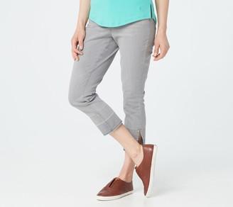 Isaac Mizrahi Live! Petite TRUE DENIM Crop Jeans w/ Release Hem