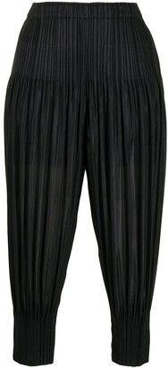 Pleats Please Issey Miyake Plisse Cropped Trousers