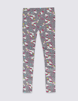 Marks and Spencer Hello Kitty Cotton Printed Leggings with Stretch (1-7 Years)