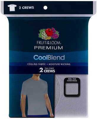 Fruit of the Loom Premium CoolBlend 2-pc. Short Sleeve Crew Neck T-Shirt