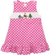 Pink Santa & Lantern Smocked Jumper - Infant, Toddler & Girls