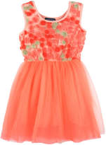 Andy & Evan Girls' Orange Flower & Tulle Dress